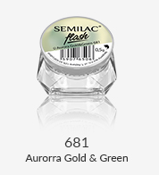Semilac Flash Aurora Gold & Green 681